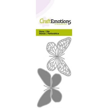 CraftEmotions Stanzschablone - Zwei Schmetterlinge