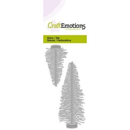 CraftEmotions Stanzschablone - Weihnachtsbäume - 20% RABATT