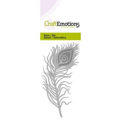 CraftEmotions Stanzschablone - Pfauenfeder