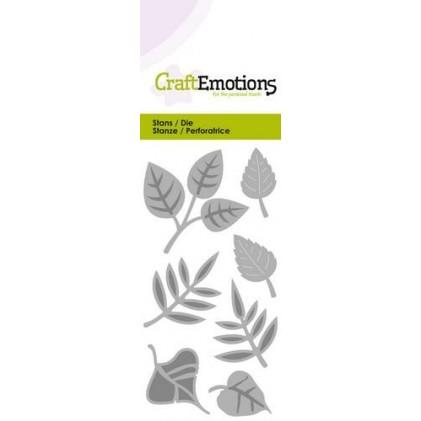 CraftEmotions Stanzschablone - Blätter-Mix