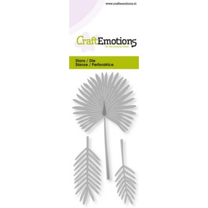 CraftEmotions Stanzschablone - Fächerpalme