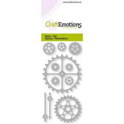 CraftEmotions Stanzschablone - Zahnräder