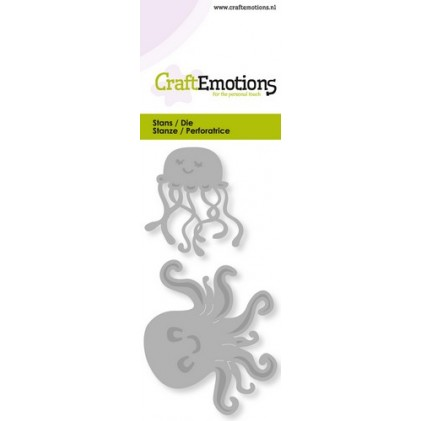 CraftEmotions Stanzschablone - Qualle & Oktopus
