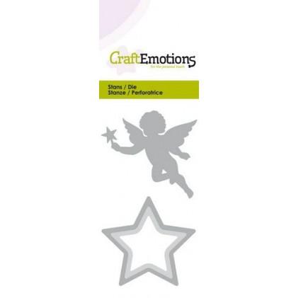 CraftEmotions Stanzschablone - Weihnachtsengel und Stern