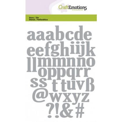 CraftEmotions Stanzschablone - Alphabet Kleinbuchstaben