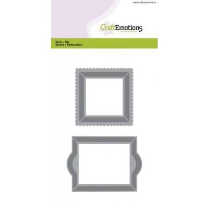CraftEmotions Stanzschablone - Rahmen 1