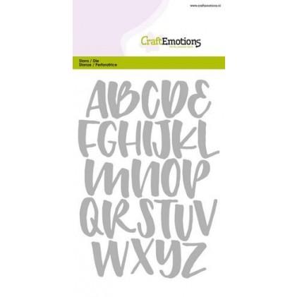 CraftEmotions Stanzschablone - Alphabet Handlettering Großbuchstaben