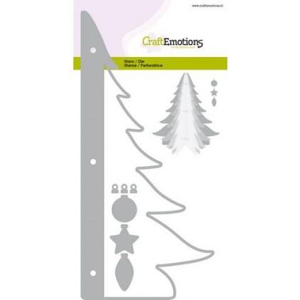 CraftEmotions Stanzschablone - 3D-Weihnachtsbaum