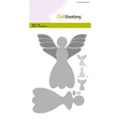 CraftEmotions Stanzschablone - Weihnachtsbaumschmuck Engel