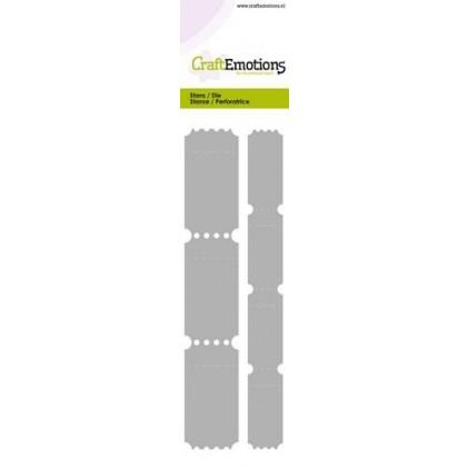 CraftEmotions Stanzschablone - Zwei Ticketstreifen
