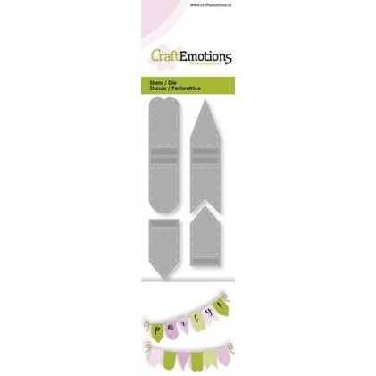 CraftEmotions Stanzschablone - Party-Banner