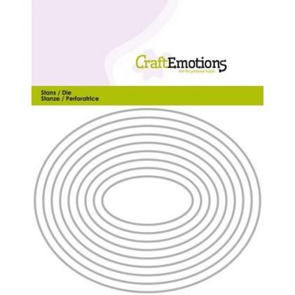 CraftEmotions Stanzschablone - Ovale Rahmen