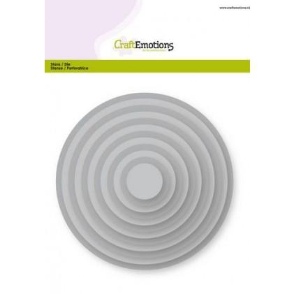 CraftEmotions Stanzschablone - Grundform Kreise