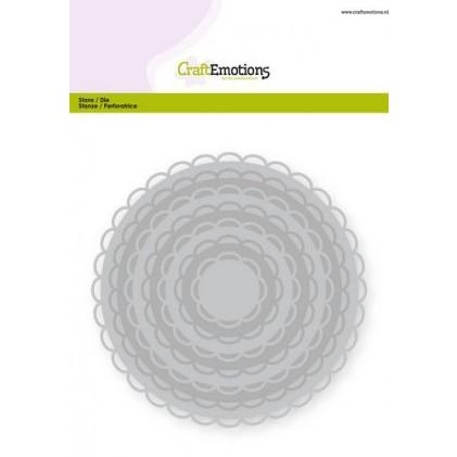 CraftEmotions Stanzschablone - Kreise mit Wellenrand