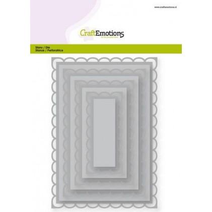 CraftEmotions Stanzschablone - Rechtecke mit Wellenrand - 20% RABATT