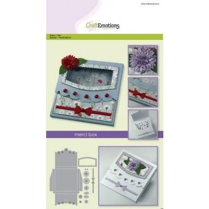 CraftEmotions Stanzschablone - Merci-Box