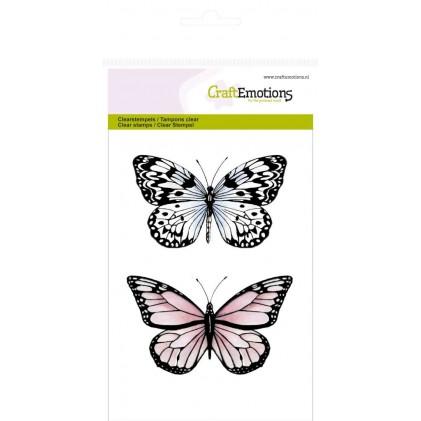 CraftEmotions Clear Stamps - Zwei Schmetterlinge