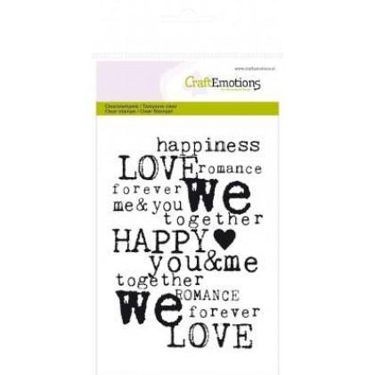 CraftEmotions Clear Stamps - Love-Hintergrund