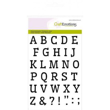 CraftEmotions Clear Stamps - Alphabet CraftEmotions