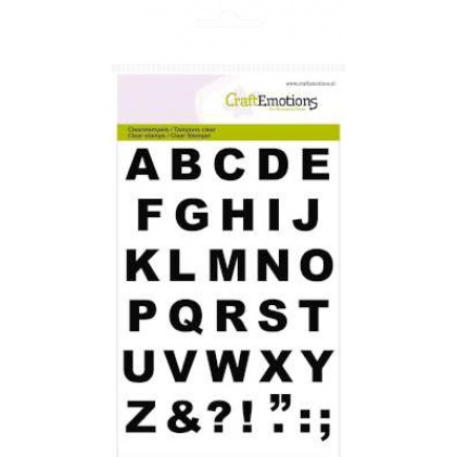 CraftEmotions Clear Stamps - Alphabet Basic