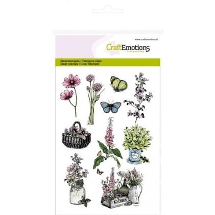 CraftEmotions Clear Stamps - Gartenblumen