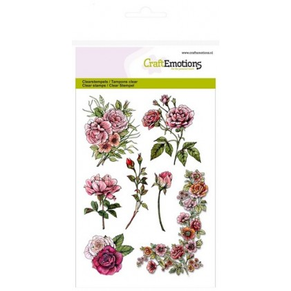 CraftEmotions Clear Stamps - Botanical Rose Garden 1