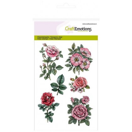 CraftEmotions Clear Stamps - Botanical Rose Garden 2