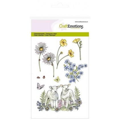 Craftemotions Clearstamps A6 - Lambs