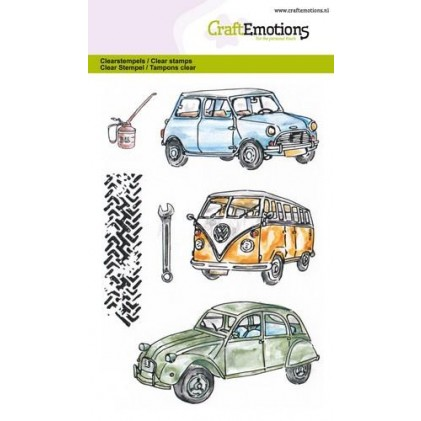 Craftemotions Clearstamps - Classic Cars 1