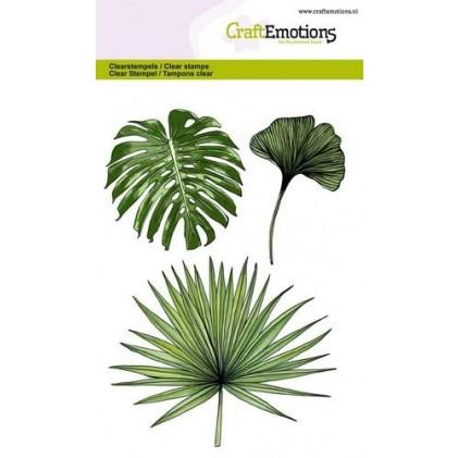 Craftemotions Clearstamps - Tropische Blätter