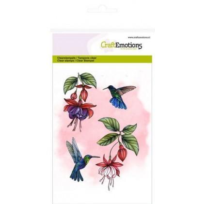 CraftEmotions Clearstamps A6 - Fuchsien und Kolibris