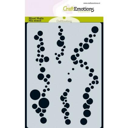 CraftEmotions Karten-Stencil A6 - Luftblasen