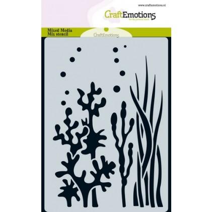 CraftEmotions Karten-Stencil A6 - Unterwasser-Pflanzen