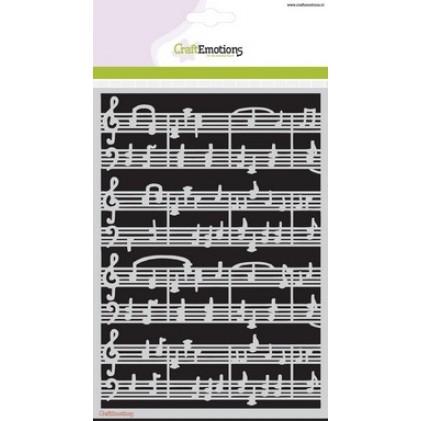 CraftEmotions Stencil A5 - Musik-Noten