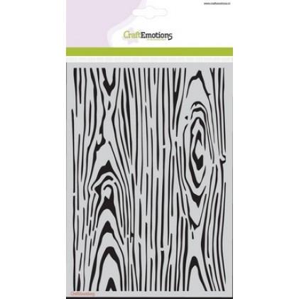 CraftEmotions Stencil A5 - Holzmaserung