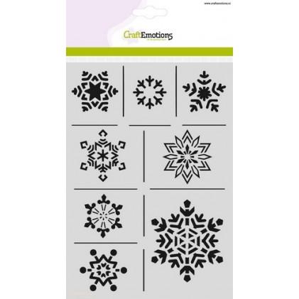 CraftEmotions Stencil A5 - Eiskristalle