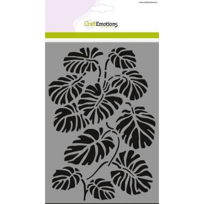 CraftEmotions Stencil A5 - Monstera Leaves