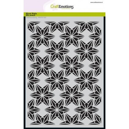 CraftEmotions Stencil A5 - Drahtform Sterne