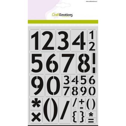 CraftEmotions Stencil groß - Zahlen Sans-Serif DIN A4