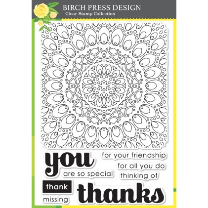 Birch Press Clear Stamp Set - Thankful Mandala
