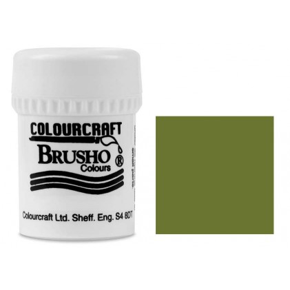 Brusho Crystal Colour Farb-Pigmente 15g - Olive Green