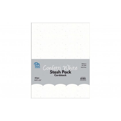 Paper Accents Cardstock Stash Pack 40 Blatt - Confetti White