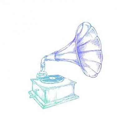 Couture Creations Men's Collection Phonograph Mini Clear Stamp