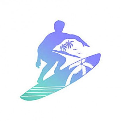 Couture Creations Men's Collection Surfs Up Mini Clear Stamp