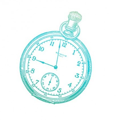 Couture Creations Gentleman's Timepiece Mini Stamp