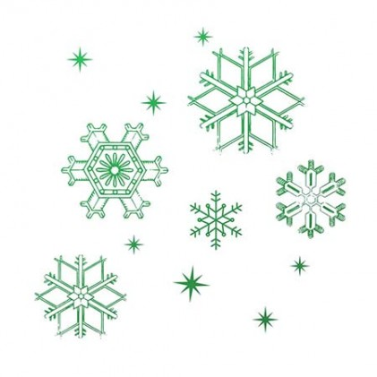 Couture Creations Snowflakes Mini Stamp