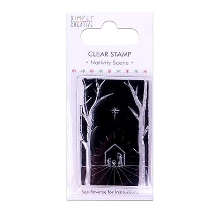 Simply Creative Nativity Scene Clear Stamp