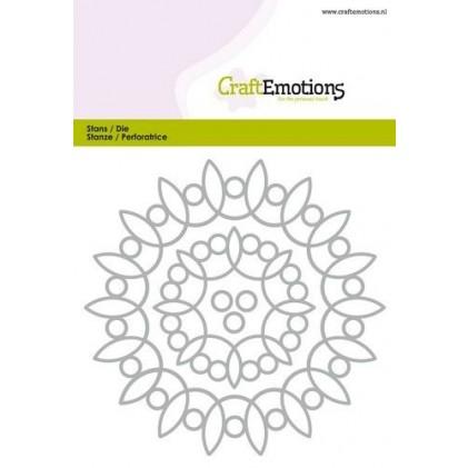 CraftEmotions Stanzschablone - Runde Schnörkel-Rahmen