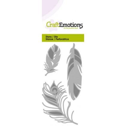 CraftEmotions Stanzschablone - Gefieder
