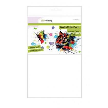 CraftEmotions WaterColorCard - Aquarellpapier 10 Blatt A4
